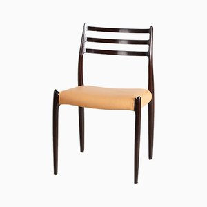 Model 78 Mahogany Chair by Niels Otto Møller for J.L. Møllers, 1960s