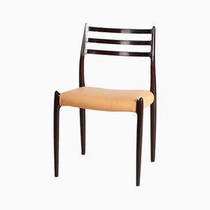 Modell 78 Stuhl aus Mahagoni von Niels Otto Møller für J.L. Møllers, 1960er