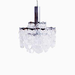Lámpara de araña de metal y metacrilato de J. T. Kalmar, años 60