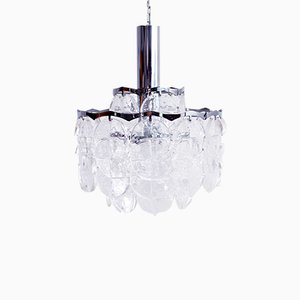 Metal and Lucite Chandelier by J. T. Kalmar, 1960s