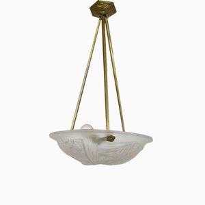 Art Deco Pendant Lamp by David Gueron for Degué, 1920s