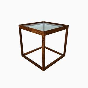 Mesa cubo de palisandro de Kurt Østervig para KP Møbler, años 50