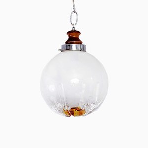 Lámpara colgante de cristal de Murano de Mazzega, años 70