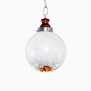 Lampe à Suspension en Verre de Murano de Mazzega, 1970s