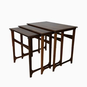Vintage Danish Rosewood Nesting Tables, 1950s