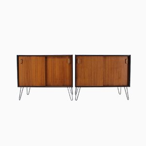 Vintage Danish Teak Cabinets, 1960s, Set of 2