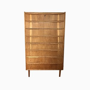 Mid-Century Danish Oak Tallboy Chest of Drawers, 1960s