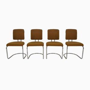 Art Déco Esszimmerstühle mit verchromten Beinen von Hynek Gottwald, 1930er, 4er Set