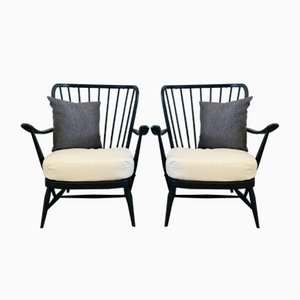 No. 477 Armchairs by Lucian Ercolani for Ercol, 1970s, Set of 2