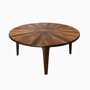 Large Mid-Century Danish Rosewood Starburst Table, 1950s