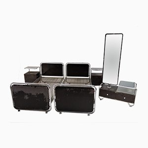Art Deco Chrome Bedroom Set, 1930s