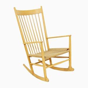 Rocking Chair Modèle J 16 par Hans J. Wegner pour Kvist Møbler A/S, 1960s