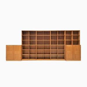 Librería modular de olmo de Mogens Koch para Rud. Rasmussen, años 50