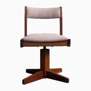 Bauhaus Style Wooden Swivel Children's Chair, 1950s