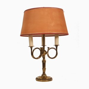 Vintage English Brass Table Lamp, 1950s