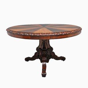 Mesa de comedor antigua de roble, siglo XIX