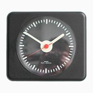 Reloj de pared negro de Krups, años 80