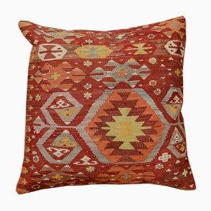 Funda de cojín de kilim bordado a mano de colores de Zencef