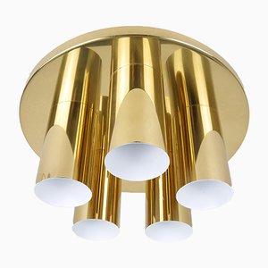 Lámpara de techo de 5 luces de Beisl, años 70