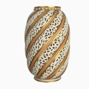 Antique Porcelain Vase by Grainger & Co for Royal Worcester Royal China Works