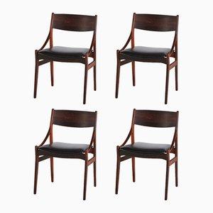 Esszimmerstühle aus Palisander von Vestervig Eriksen für Peter, 1960er, 4er Set