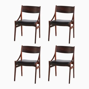 Rosewood Dining Chairs by Vestervig Eriksen for Peter, 1960s, Set of 4