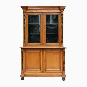Antique German Biedermeier China Cabinet