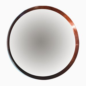 Specchio rotondo in teak, anni '60