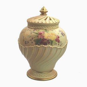 Jarrón antiguo de porcelana de Royal Worcester