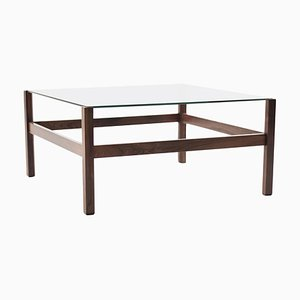 Architectural Rosewood Coffee Table, 1950s