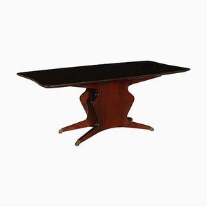 Vintage Italian Rosewood Veneer Table by Osvaldo Borsani for Atelier di Varedo, 1950s