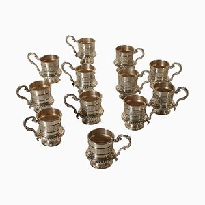 Mid-Century Italian Silver Cups from IMA di Guerci & C, 1950s, Set of 12