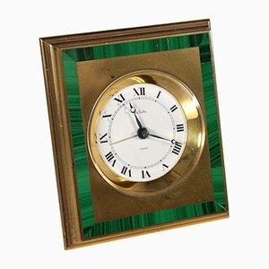 Reloj de mesa de latón de La Vallèe, años 70