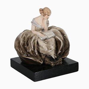 Escultura de dama de Guido Cacciapuoti, años 40