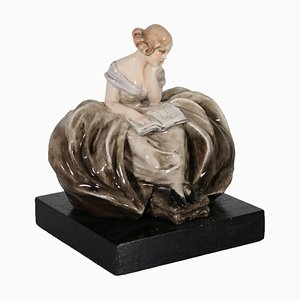 Sculpture Dame par Guido Cacciapuoti, 1940s