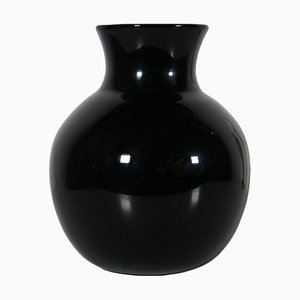 Black Blown Glass Vase, 1980s
