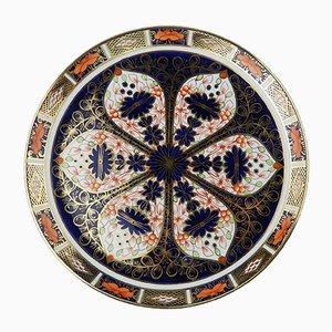 Bandeja Royal Crown Derby inglesa antigua de porcelana de Royal Crown Derby
