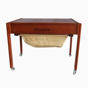 Mesa de costura danesa de teca, años 60