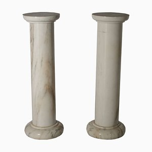 Antique Marble Columns, Set of 2