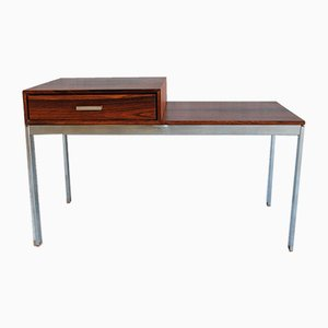 Danish Modern Rosewood & Steel Side Table, 1970s