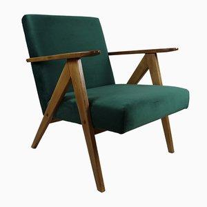 Vintage Green Velvet VAR B310 Armchair, 1970s