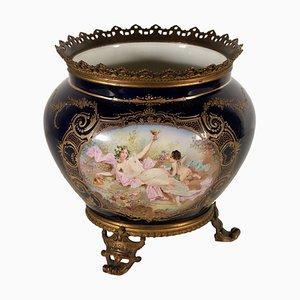 Jarrón francés antiguo de porcelana de Sevres