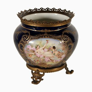 Vaso antico in porcellana di Sevres, Francia