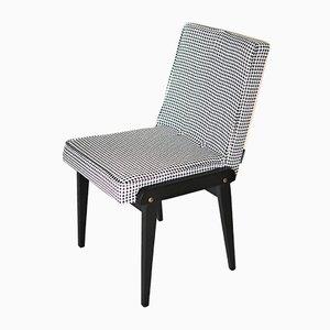 Vintage Esszimmerstühle in Schwarz & Weiß von Józef Chierowski, 1970er, 2er Set