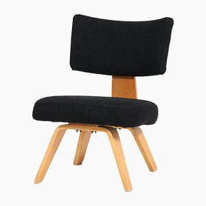 Mid-Century Plywood Easy Chair by Cor Alons for Den Boer Gouda, 1940s