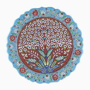 Plato decorativo turco con el árbol de la vida, años 70
