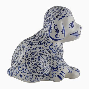 Vintage Ceramic Dog Figurine, 1970s