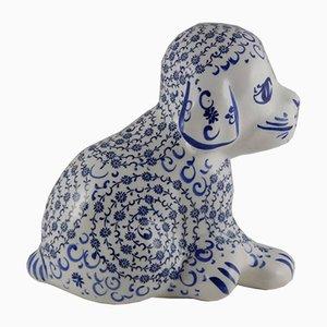 Vintage Hund Figur aus Keramik, 1970er