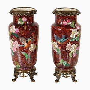 Antike Vasen aus Bronze, 1900er, 2er Set