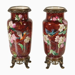 Vases Antiques en Bronze, 1900s, Set de 2